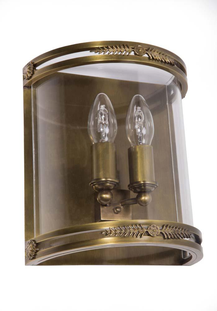 Φωτιστικό επίτοιχο μπρονζέ με χρυσές λεπτομέρειες