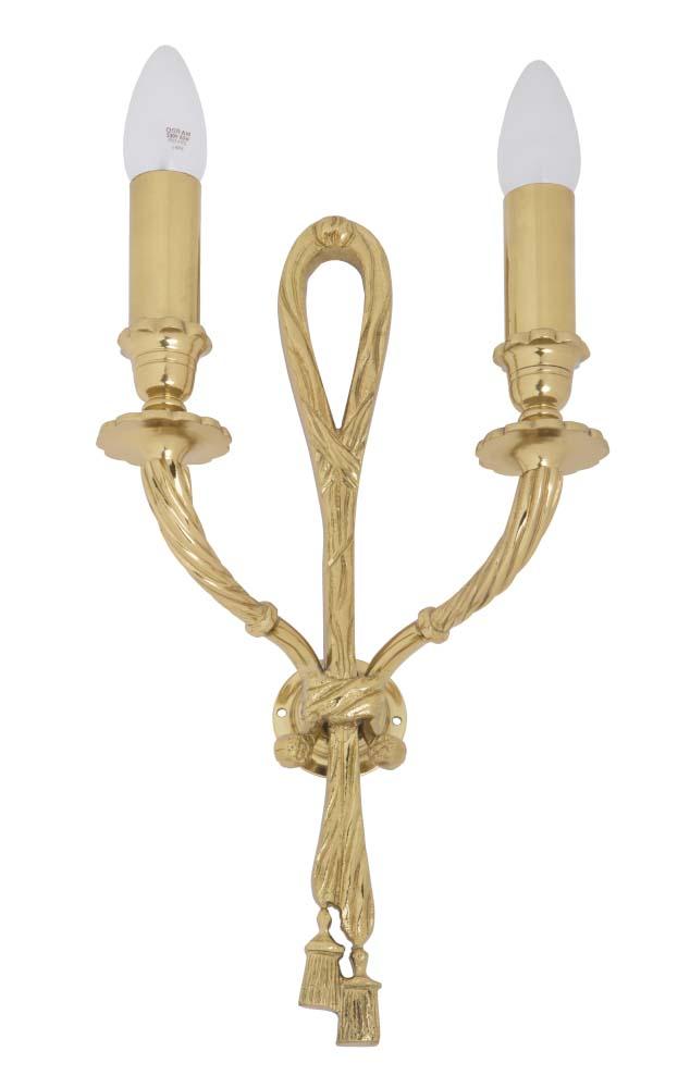 Φωτιστικό επίτοιχο χρυσό γυαλιστερό με φιόγγους