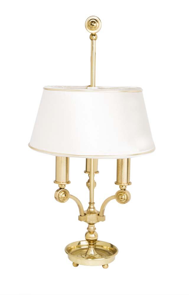 Φωτιστικό επιτραπέζιο χρυσόμε αμπαζούρ